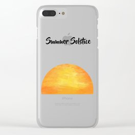 Sunrise in Summer solstice day Clear iPhone Case