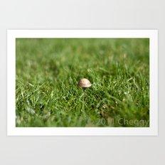 Mushroom sad Art Print