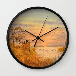 Duck Hunters Calling Wall Clock