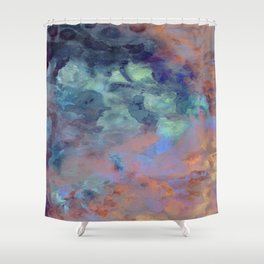 Van GoGo Blue Shower Curtain