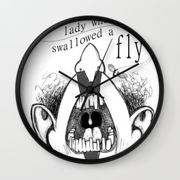 There was an old Lady who swallowed a fly Wall Clock