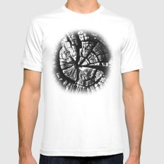 Texture Tree Rings Tree slice Old Tree photograph Natural beauty White Mens Fitted Tee MEDIUM