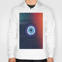 evil eye Hoodies featuring Evil Eye by DuckyB