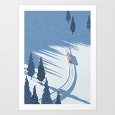 Winter sunshine Art Print