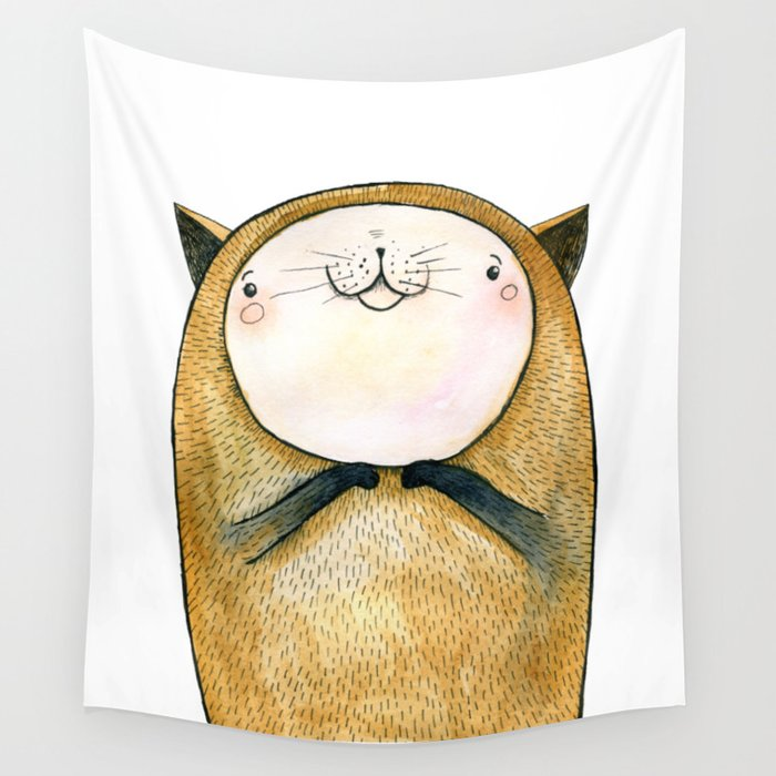 cutie cat Wall Tapestry