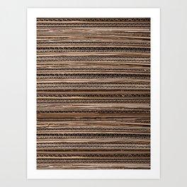 Cardboard edge rustic Art Print