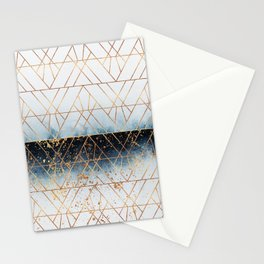 Winter Blue Geo Stationery Cards