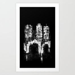 Structure Sprawl Art Print