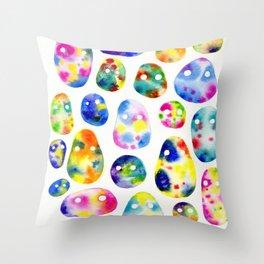 Psychic Blob Friends Throw Pillow