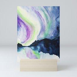 Northern Lights Watercolor Mini Art Print