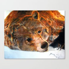 Lazy Bear Canvas Print