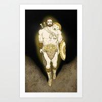 hercules Art Prints featuring Hercules by wyguy5