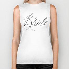 Lettered Bride Biker Tank