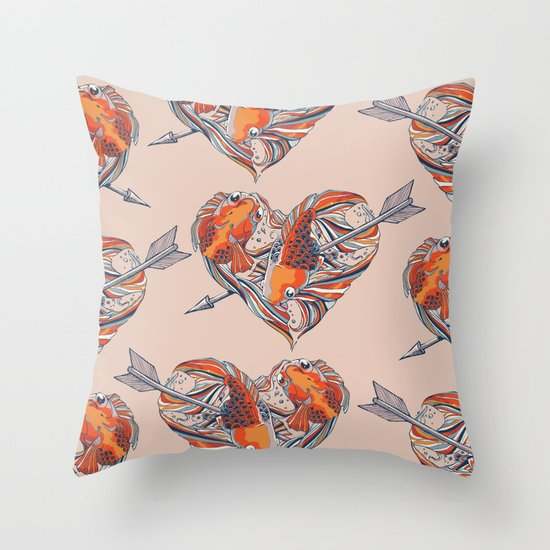 Form of Love Throw Pillow