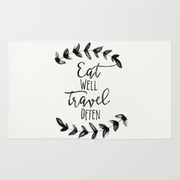 Eat Well Travel Often, Rug