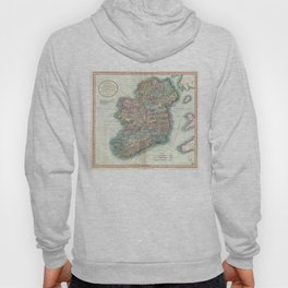 Vintage Map of Ireland (1799) Hoody