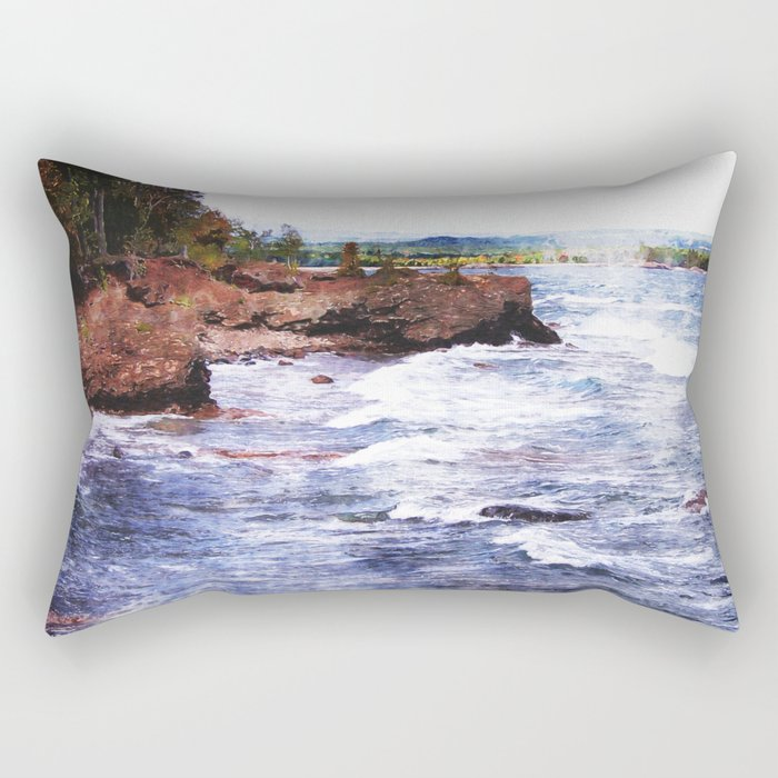 Upper Peninsula Landscape Rectangular Pillow