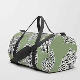 Abstract Monstera Leaf Pattern green Duffle Bag