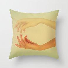 Finger tips Throw Pillow
