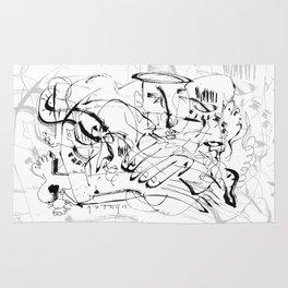Temptation of Angels - b&w Rug