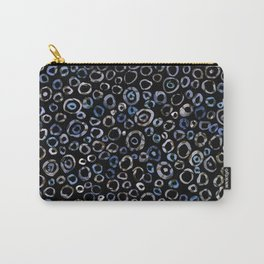 Circles Blue Charcoal Carry-All Pouch