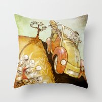 physics Throw Pillows featuring Naughty Physics by Brian Coldrick