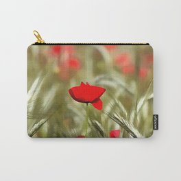 Hot Poppy Carry-All Pouch