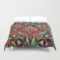 flower of life Duvet Covers featuring Flower of Life variation by Klara Acel