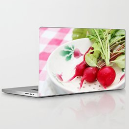 Radishes on a plate Laptop & iPad Skin