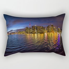 Rainbow city night Rectangular Pillow