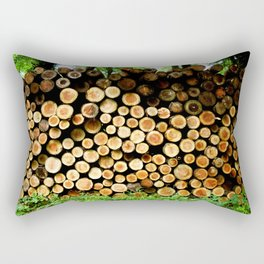 The Great Wall Of Wood Rectangular Pillow