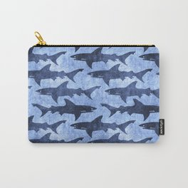Blue Ocean Shark Carry-All Pouch