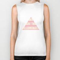 illuminati Biker Tanks featuring Illuminati by filiskun