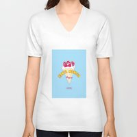 santa monica V-neck T-shirts featuring santa monica by DSD - Details Studio Design