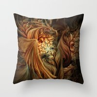 phoenix Throw Pillows featuring Phoenix by SensualPatterns