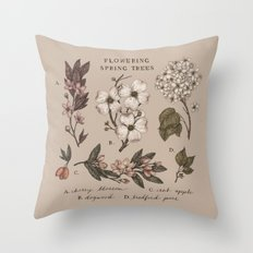 Flowering Spring Trees Throw Pillow