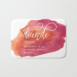 Duende Word Nerd Definition - Pink Watercolor Bath Mat