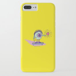 Apple of my Eye Idiom with Yellow Background iPhone Case