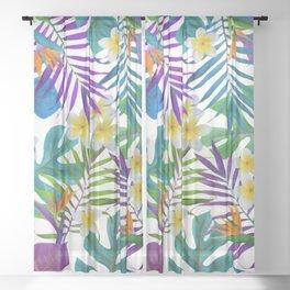 Tropical Paradise II Sheer Curtain