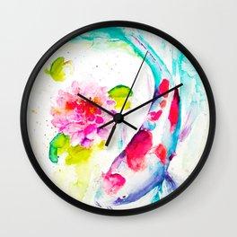Koi Love Wall Clock