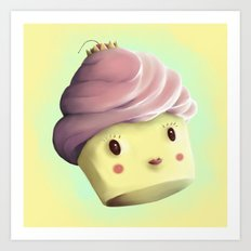 Princess Cupcake Art Print