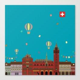 Basel Rathaus Festival Canvas Print