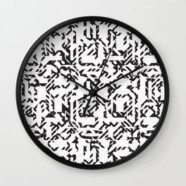 A Mazing Pattern Wall Clock