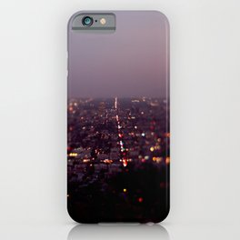 Angel City Lights, L.A. at Night (No. 2) iPhone Case