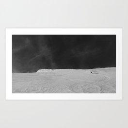 Bridger cold smoke Art Print