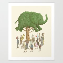 The Elephant Tree Art Print