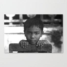 Children eyes of the Vietnamese innocence Canvas Print