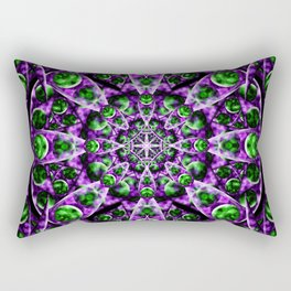 Amethyst Portal Mandala Rectangular Pillow