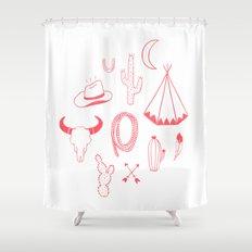 Cowboys & Indians Shower Curtain