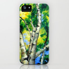 Birch Lights iPhone Case
